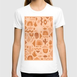 Orange Cutout Print T-shirt