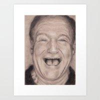 robin williams Art Prints featuring Robin Williams by Annika Raaen