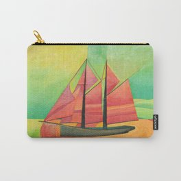 Cubist Abstract Sailing Boat Carry-All Pouch