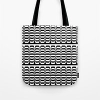 techno Tote Bags featuring Techno Zebra by Lyle Hatch