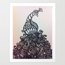 zen peacock Art Print
