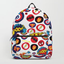 Superhero Stickers Backpack