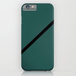 Black Line on Teal iPhone Case