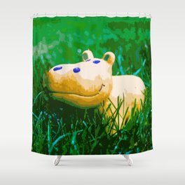Happy Hippo - Part 1 Shower Curtain