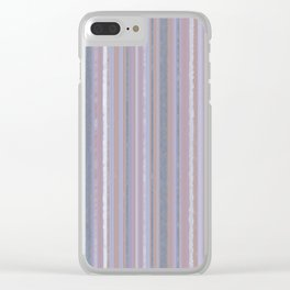 Sizzling Stripes Clear iPhone Case
