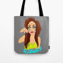 Last Night's Make-Up FAIL Illustration Tote Bag