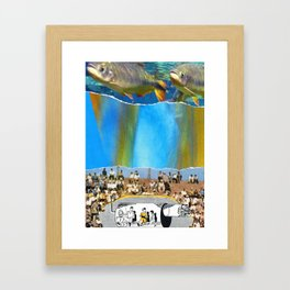 Swim With Both Hands On The Ground Framed Art Print