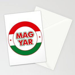 Magyar, circle, color Stationery Cards