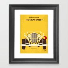 No206 My The Great Gatsby minimal movie poster Framed Art Print