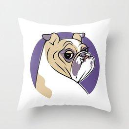 Burly Girl Throw Pillow