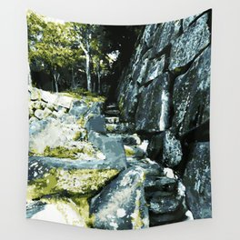 Anamorphic Stairs - Japan Wall Tapestry
