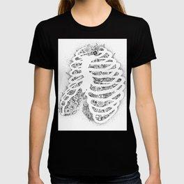 Anatomy Series: Pectus Excavatum Rib Flowers T-shirt