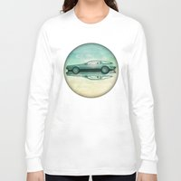 delorean Long Sleeve T-shirts featuring Siamese  Delorean by Vin Zzep