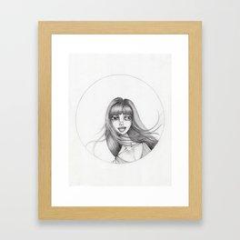 JennyMannoArt Graphite Drawing/Abbey Framed Art Print
