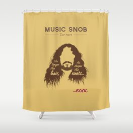 The Longer the Hair — Music Snob Tip #073 Shower Curtain