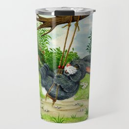 RABBIT ON A SWING Travel Mug