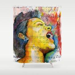 Billie's Blues  Shower Curtain