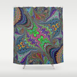 Fractal Abstract 46 Shower Curtain
