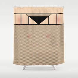 Fishnet Stockings and Black Knickers Shower Curtain