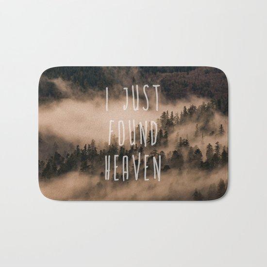 I Just Found Heaven Foggy Forest Bath Mat