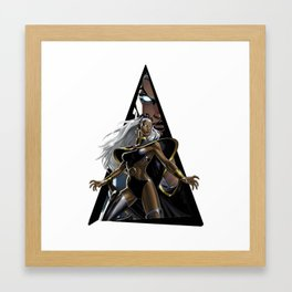 Youtriangle ∆ Storm Framed Art Print