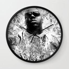 RIP BIGGIE (BLACK & WHITE VERSION) Wall Clock