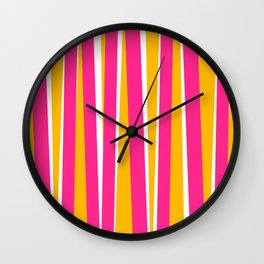 Chewy Candy Stripes Wall Clock