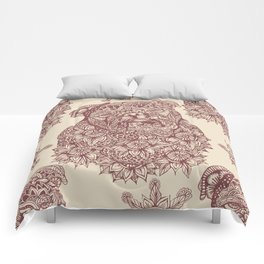 MANDALA OF ENGLISH BULLDOG Comforters