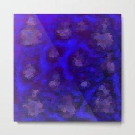 blue painted brush pattern Metal Print