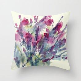 Flower Impression / Bursting Bouquet Throw Pillow