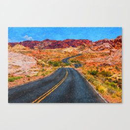 Valley of Fire - Nevada USA Canvas Print