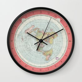 FLAT EARTH MAP Wall Clock