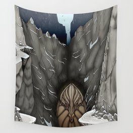 The White Dragon Lair Wall Tapestry