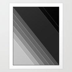 Black and white geometric pattern Art Print