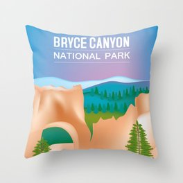 Bryce Canyon National Park, Utah - Skyline Illustration by Loose Petals Throw Pillow