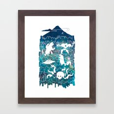 Tokyo Smackdown Framed Art Print