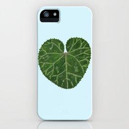 Cyclamen leaf - light blue iPhone Case