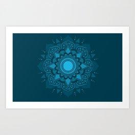 Blue Mandala #4 Art Print