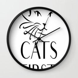 Cats first Wall Clock
