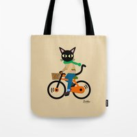 cycling Tote Bags featuring Whim's cycling by BATKEI