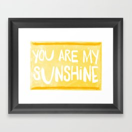My Sunshine Love Framed Art Print
