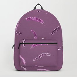 Abstract Pink and Purple People Eaters Pattern, Just Kidding Backpack