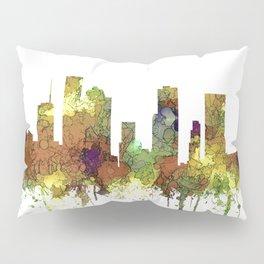 Houston Texas Skyline SG - Safari Buff Pillow Sham