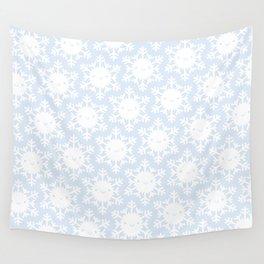 Kawaii Winter Snowflakes Wall Tapestry