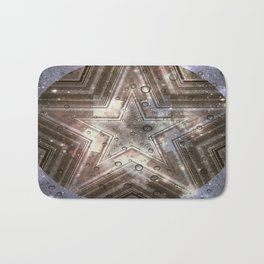Hollywood Star with water drops Bath Mat