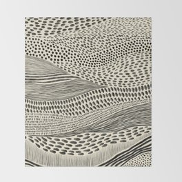 Hand Drawn Patterned Abstract II Throw Blanket