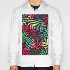 Watercolor Tropical Palm Leaves IV Hoody
