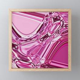 Pink glassy Framed Mini Art Print