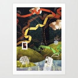 Rain Ribbons Art Print