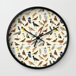 Great collection of birds illustrations  Wall Clock